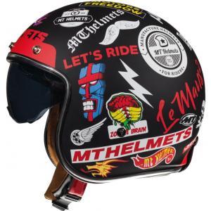 Otvorená prilba na motocykel MT LeMans 2 SV Anarchy čierna matná
