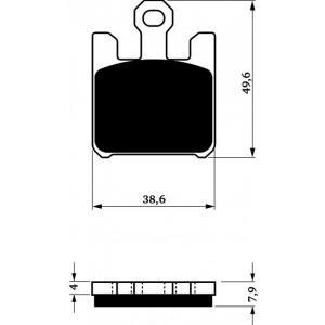 Brzdové obloženie GOLDFREN 200 S3 (4 ks v sade