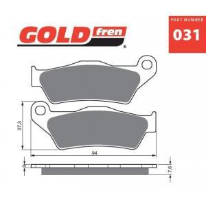 Brzdové obloženie GOLDFREN 031 S3