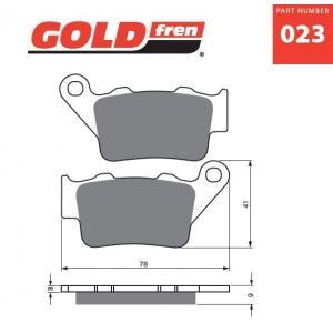 Brzdové obloženie GOLDFREN 023 S3