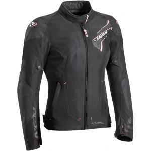 Dámska bunda na motocykel IXON Luthor čierno-ružová výpredaj