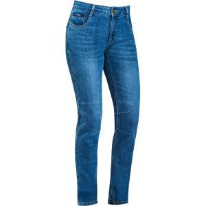 Dámske jeansy na motocykel IXON Cathelyn sprané modré