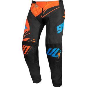 Detské motokrosové nohavice Shot Devo Ventury čierno-oranžovo-modré