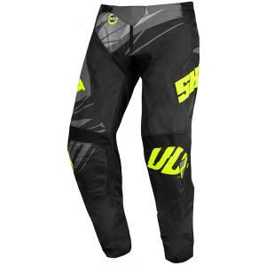 Detské motokrosové nohavice Shot Devo Ventury čierno-šedo-fluorescenčno žlté