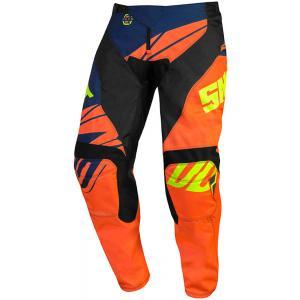 Detské motokrosové nohavice Shot Devo Ventury oranžovo-modro-fluorescenčno žlté