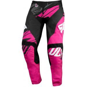 Detské motokrosové nohavice Shot Devo Ventury ružovo-čierno-biele