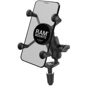 Držiak mobilného telefónu RAM Mounts X-Grip s uchytením do krku riadenia motocykla