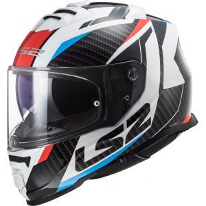 Integrálna prilba na motocykel LS2 FF800 Storm Racer čierno-bielo-červeno-modrá