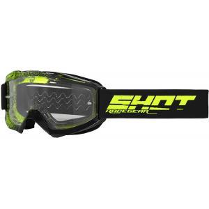 Motokrosové okuliare Shot Assault Elite čierno-fluorescenčno žlté