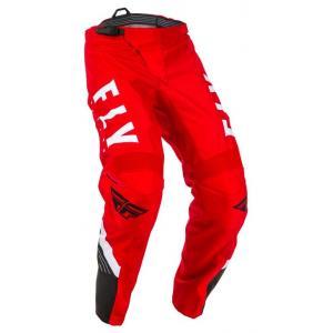 Motokrosové nohavice FLY Racing F-16 2020 červeno-čierno-biele