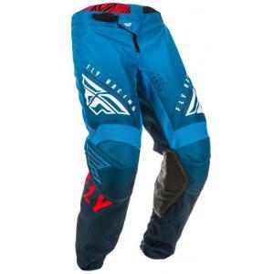 Motokrosové nohavice FLY Racing Kinetic K220 modro-bielo-červené