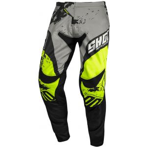 Motokrosové nohavice Shot Contact Shadow šedo-čierno-fluorescenčno žlté