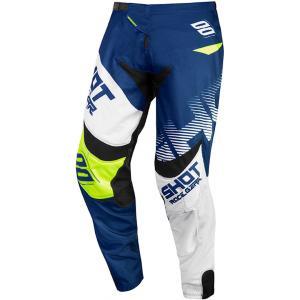 Motokrosové nohavice Shot Contact Trust modro-bielo-fluorescenčno žlté výpredaj