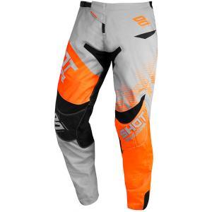 Motokrosové nohavice Shot Contact Trust šedo-čierno-fluorescenčno oranžové