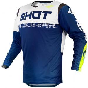 Motokrosový dres Shot Contact Trust modro-bielo-fluorescenčno žltý výpredaj