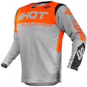 Motokrosový dres Shot Contact Trust šedo-čierno-fluorescenčno oranžový