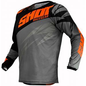 Motokrosový dres Shot Devo Ventury čierno-šedo-fluorescenčno oranžový výpredaj