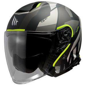 Otvorená prilba na motocykel MT Thunder 3 SV Bow čierno-šedo-fluorescenčno žltá