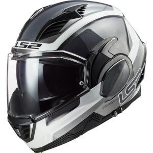Preklápacia prilba na motocykel LS2 FF900 Valiant II Orbit Jeans čierno-strieborno-biela