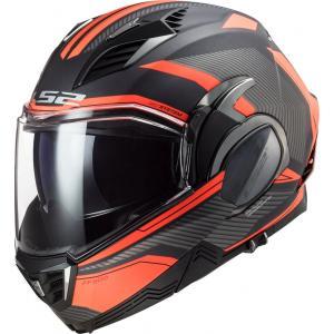 Preklápacia prilba na motocykel LS2 FF900 Valiant II Revo titánovo-fluorescenčno oranžová