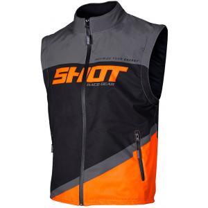 Softshellová vesta Shot Lite čierno-šedo-fluorescenčno oranžová výpredaj