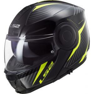 Odklápacia prilba na motocykel LS2 FF902 Scope Skid čierno-fluorescenčno žltá