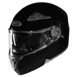 Vyklápacia prilba na motocykel Ozone Wind čierna lesklá