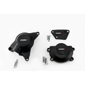 Ochranné kryty motora PUIG 20129N čierna zahrnuje pravý, ľavý kryt a kryt alternátora