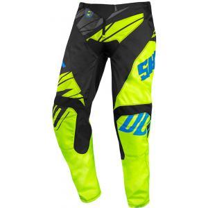 Detské motokrosové nohavice Shot Devo Ventury čierno-modro-fluorescenčno žlté výpredaj