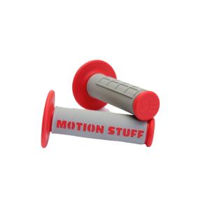 Motokrosové rukoväte - supersoft MOTION STUFF Šedo/červené