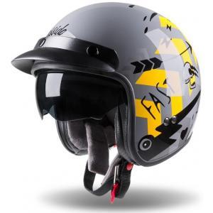 Otvorená prilba na motocykel Cassida Oxygen Badass šedo-čierno-žltá