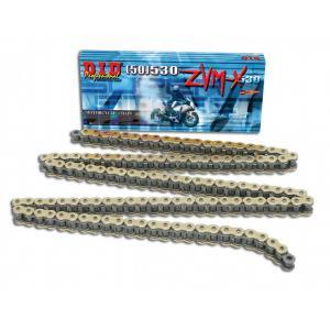 ZVM-X-x krúžok -pevnejšie D.I.D Chain 530ZVM-X 118 článkov zlatá/zlatá