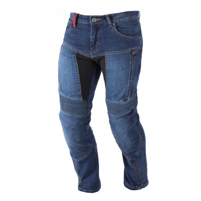 Kevlarové jeansy na motocykel Ayrton 505 modré