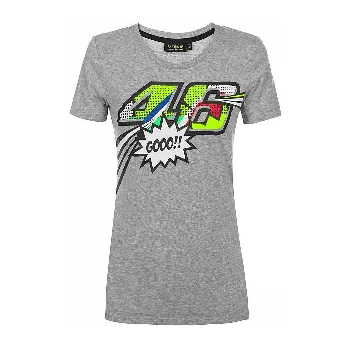 Dámske tričko VR46 Valentino Rossi POP ART šedé