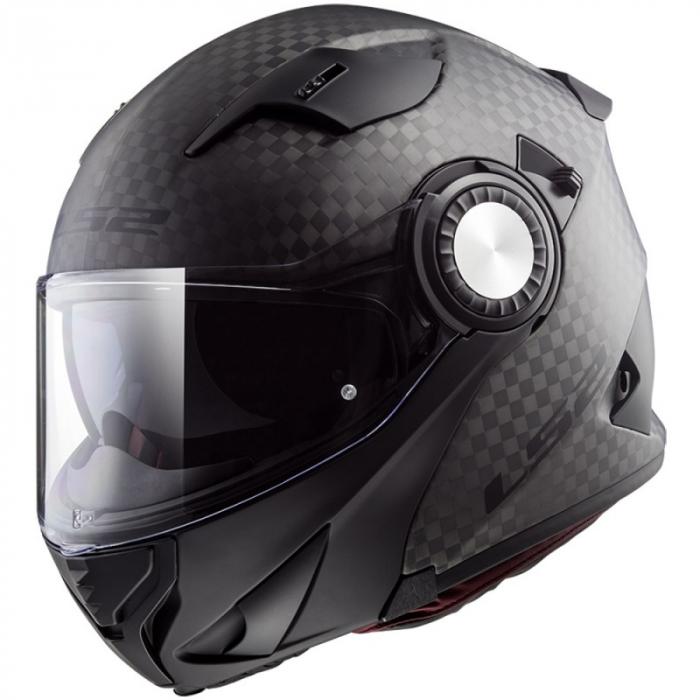 Odklápacia prilba na motocykel LS2 FF313 Vortex Solid Carbon