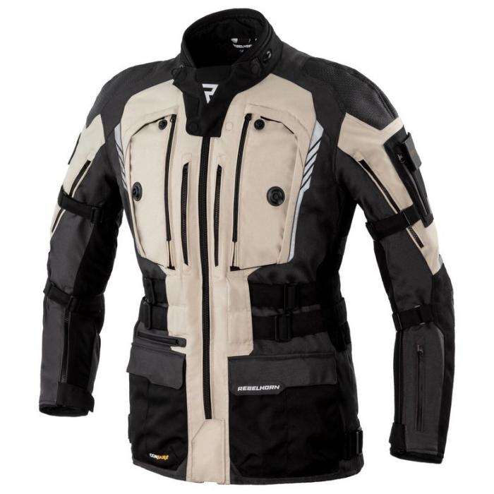 Bunda na motocykel Rebelhorn Patrol čierno-piesková výpredaj