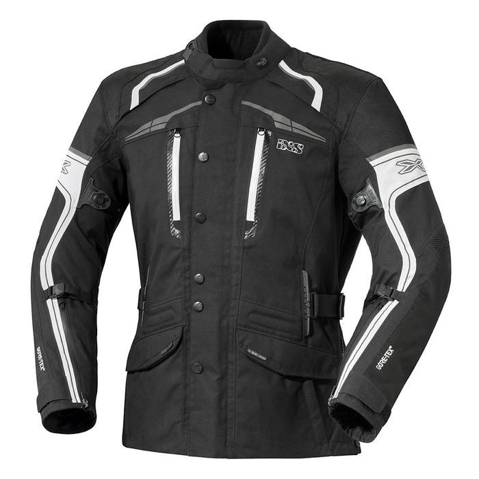 Dámska bunda na motocykel iXS Montgomery čierno-biela