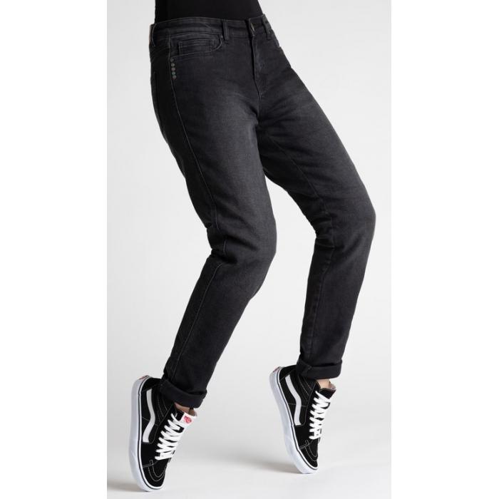Dámske jeansy na motocykel BROGER California čierne výpredaj