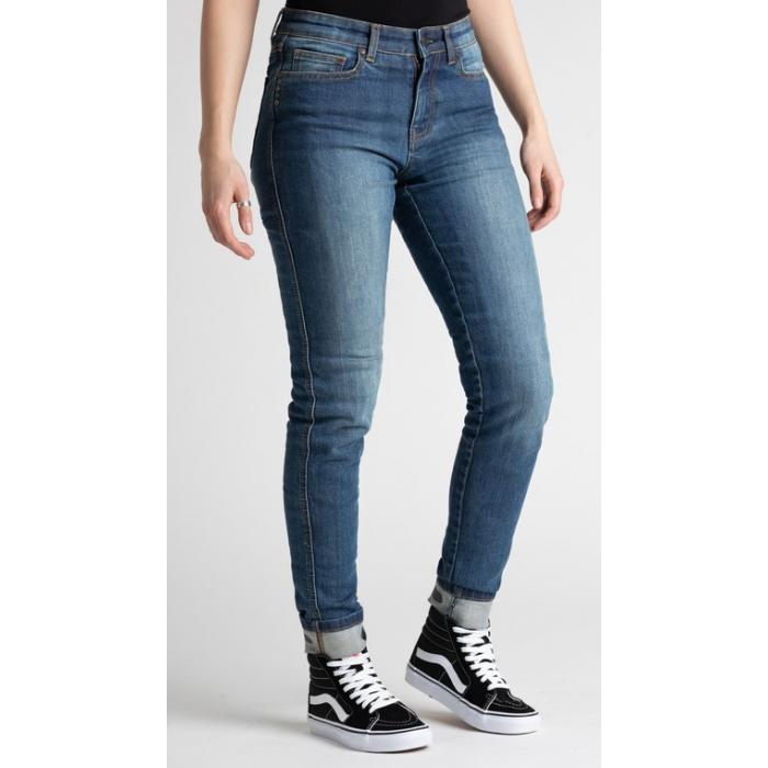 Dámske jeansy na motocykel BROGER California modré výpredaj