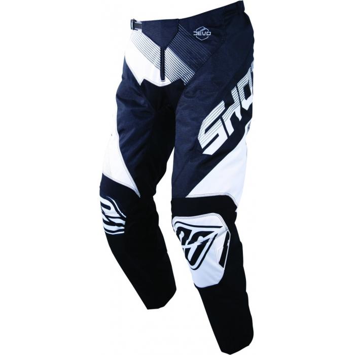 Detské motokrosové nohavice Shot DEVO Ultimate čierno-biele