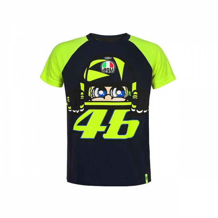 Detské tričko VR46 Valentino Rossi CUPOLINO žlto/modré
