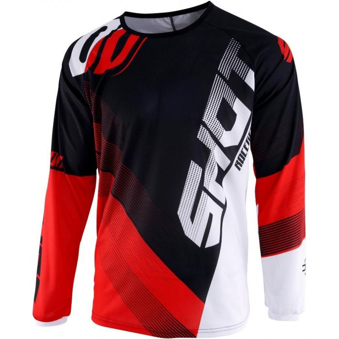 Detský motokrosový dres Shot DEVO Ultimate čierno-červený