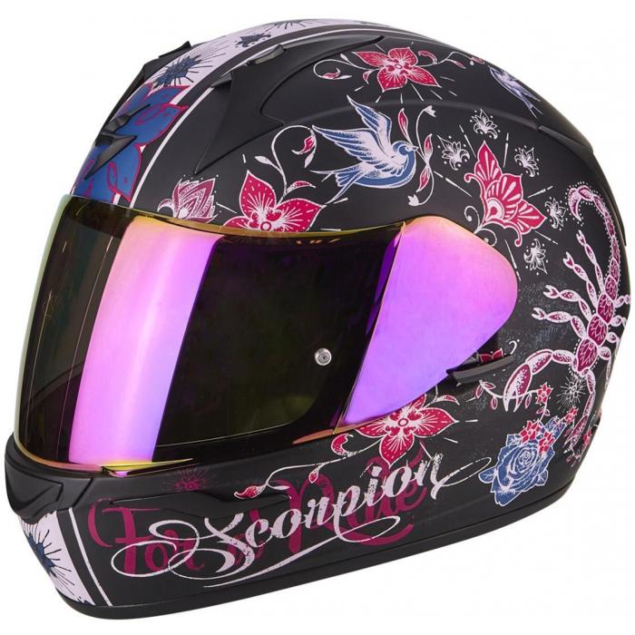 Integrálna prilba Scorpion EXO-390 Chica čierno-ružová