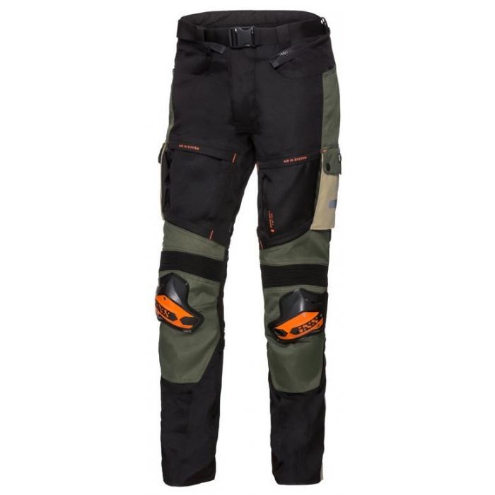Nohavice na motocykel iXS Montevideo-RS1000 béžovo-zeleno-čierne výpredaj