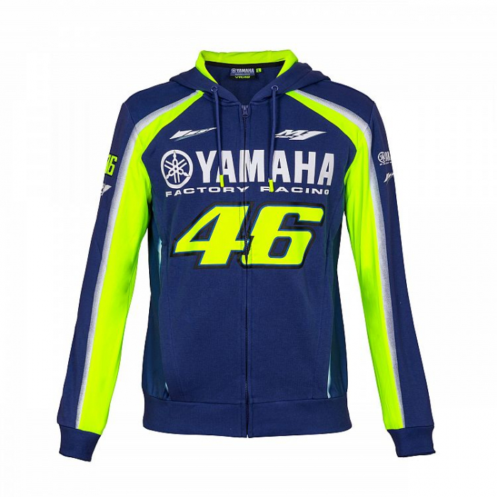 Mikina VR46 Valentino Rossi fleece Yamaha modro-žltá