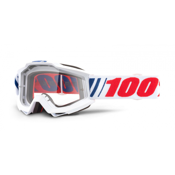 Motokrosové okuliare 100 % Accuri AF066 (číre plexisklo)