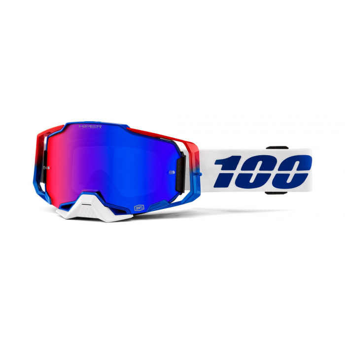 Motokrosové okuliare 100 % ARMEGA Genesis Hiper (červené plexisklo)