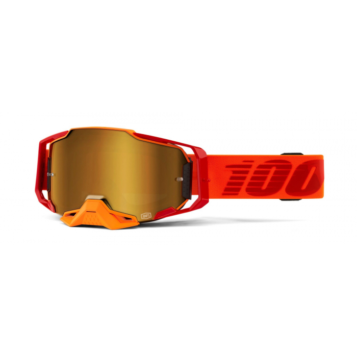 Motokrosové okuliare 100 % ARMEGA Litkit oranžové (zlaté plexisklo)