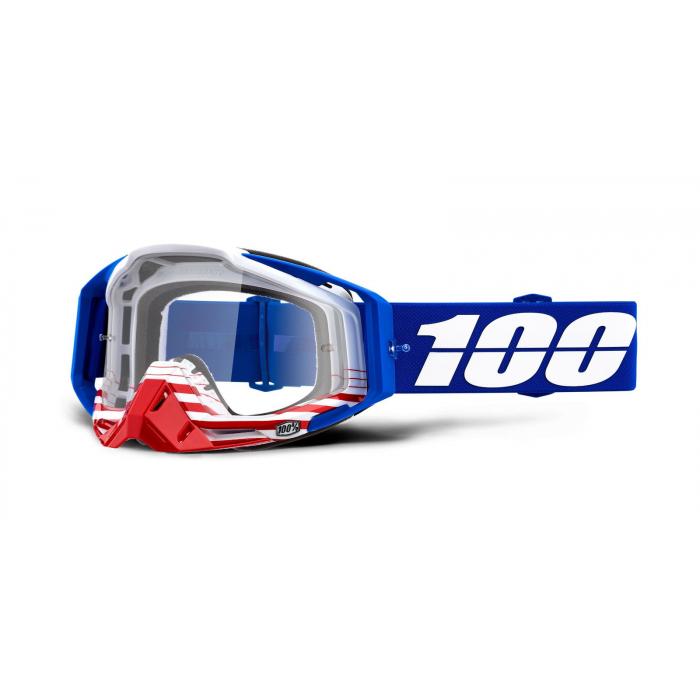 Motokrosové okuliare 100 % Racecraft ANTHEM (číre plexisklo)