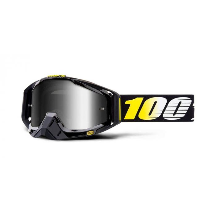 Motokrosové okuliare 100 % RACECRAFT Cosmos 99 (strieborné - zrkadlové plexisklo)